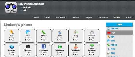 Spy Phone cung cấp nhiều thông tin khác nhau
