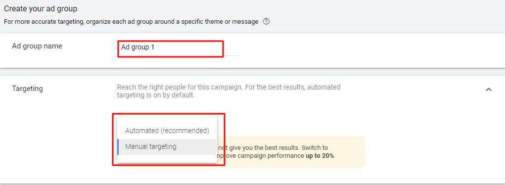 Google ad group
