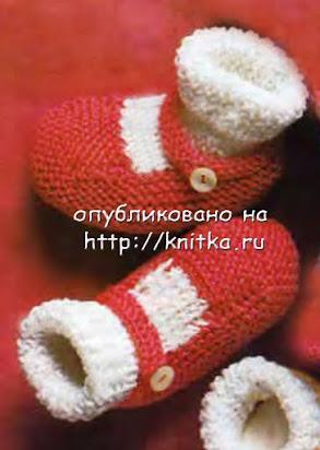 Образцы вязания башмачков для взрослых