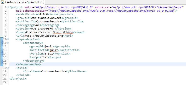 Fig - default POM file generated