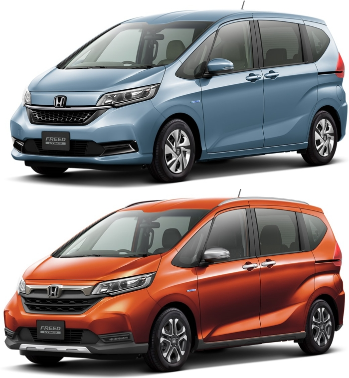 Honda Freed (บน) และ Honda Freed Crosstar (ล่าง)