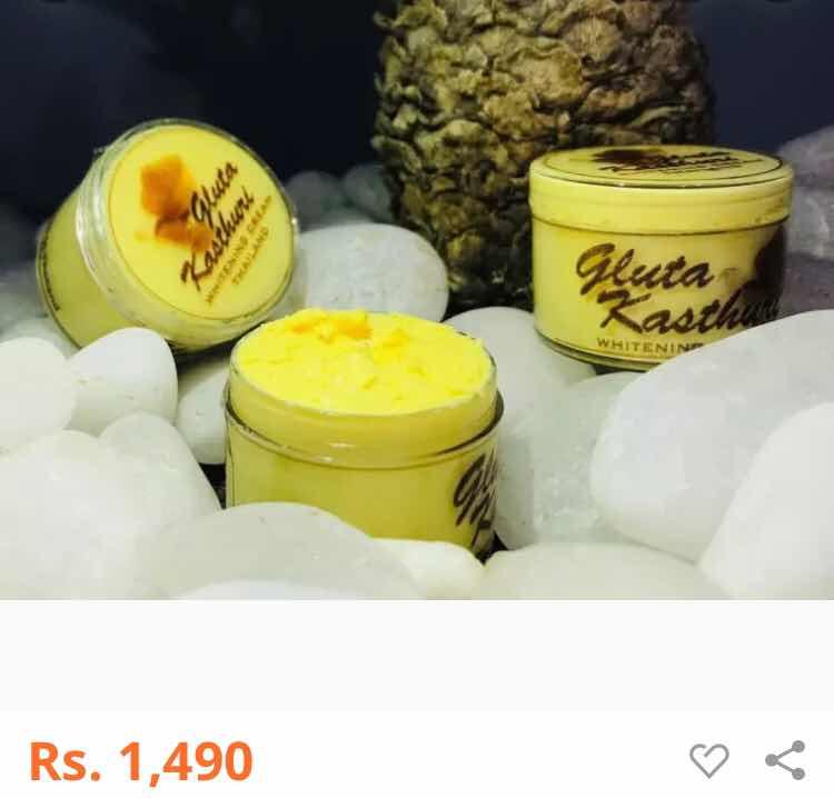 Gluta Fresh Whitening Day & Night Cream Fairness 100% Guaranteed NO Bleaching