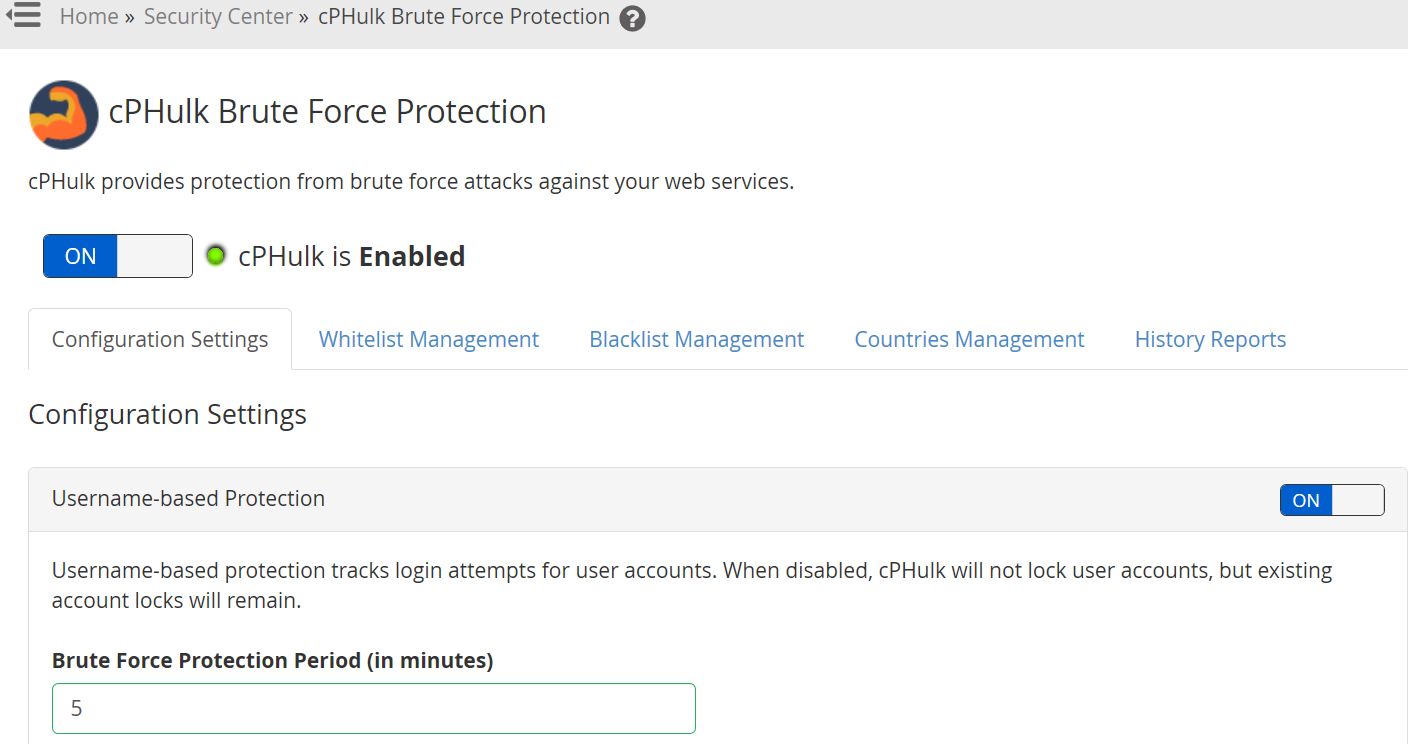 Cara Management Brute Force Protection di WHM VPS