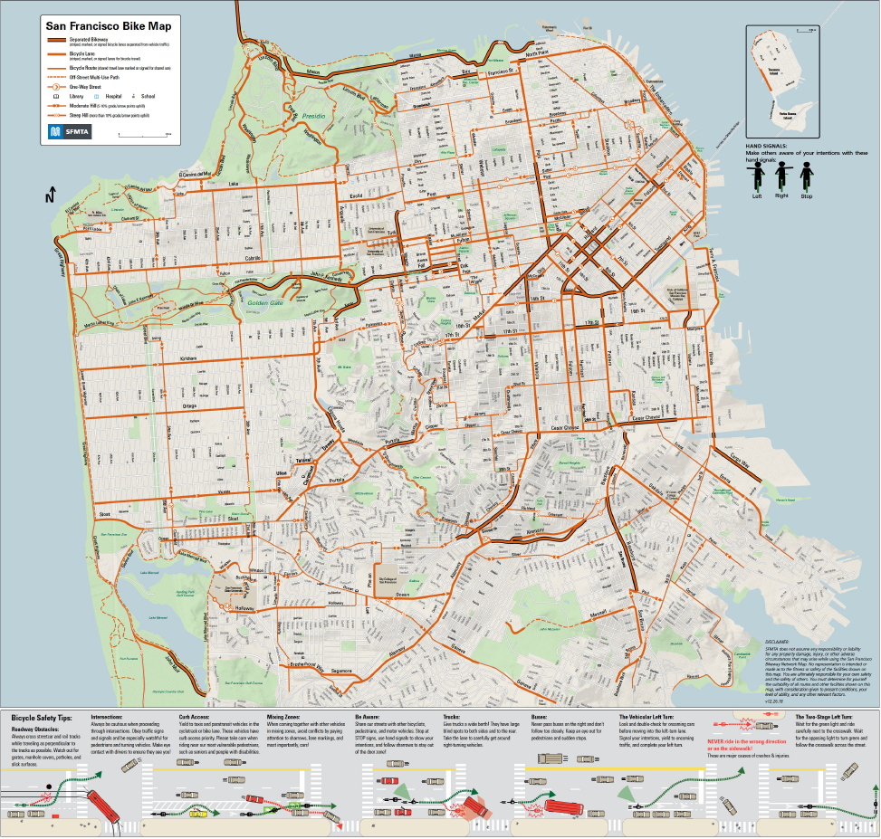 San Francisco Bike Network Map