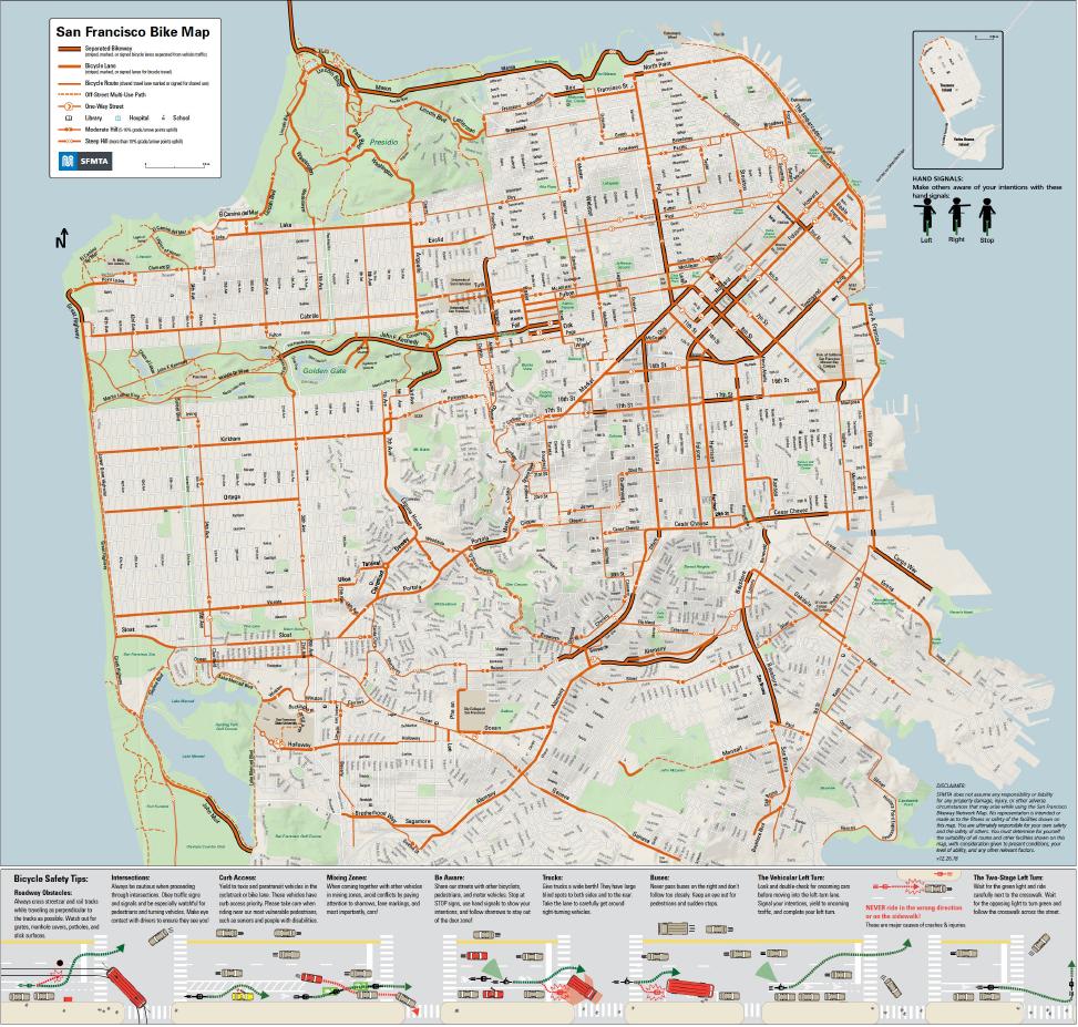 Denver Quick Permits: San Francisco Bike Network Map