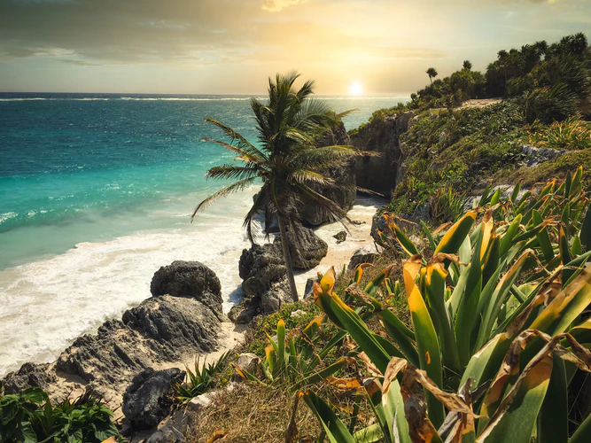 Sunset at a beautiful beach in Tulum, Mexico (Photo by Darren Lawrence)