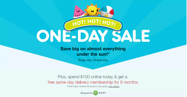Target.com One-day Sale