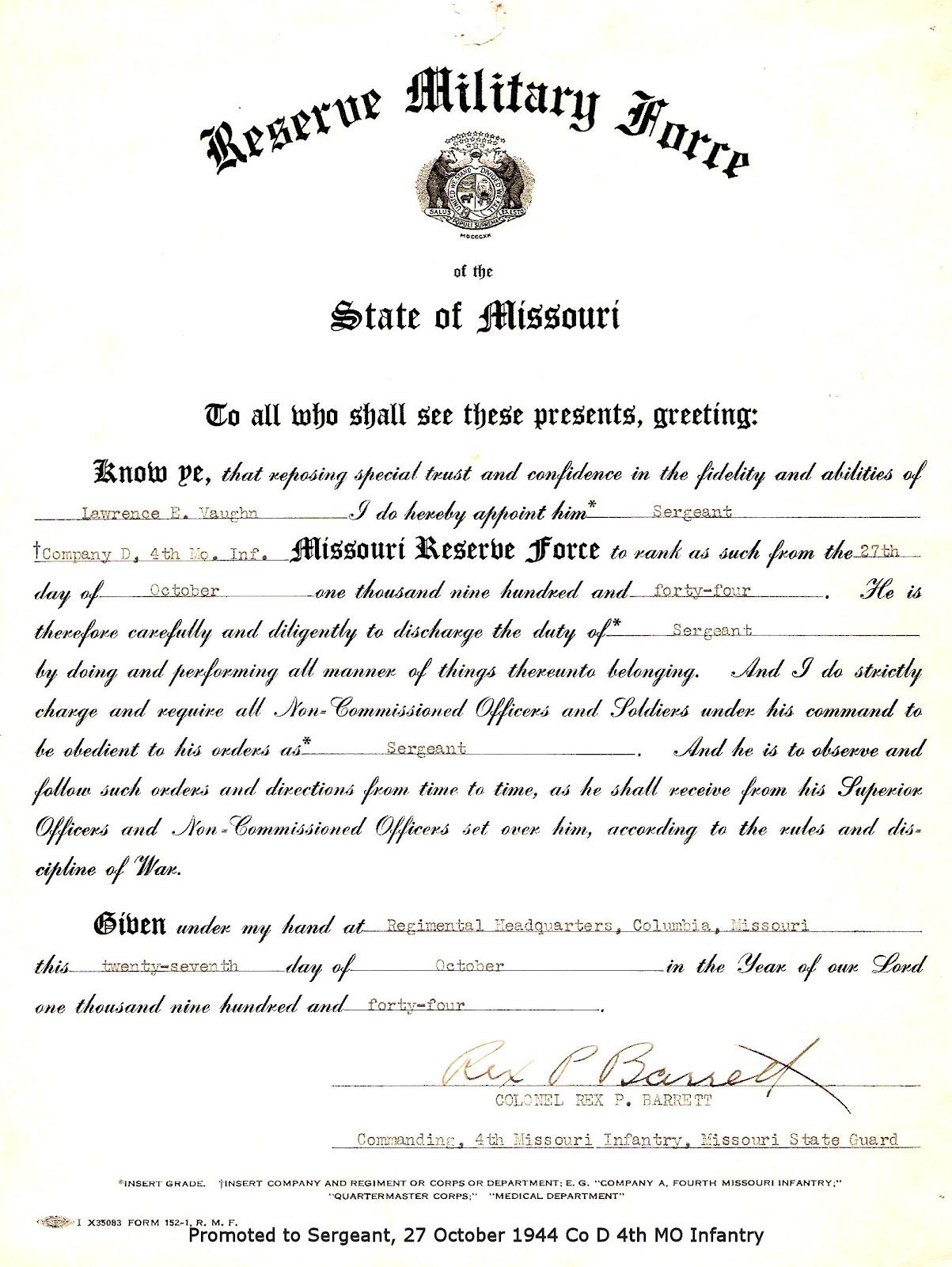 Mo State Guard Appt SGT 1944.jpg