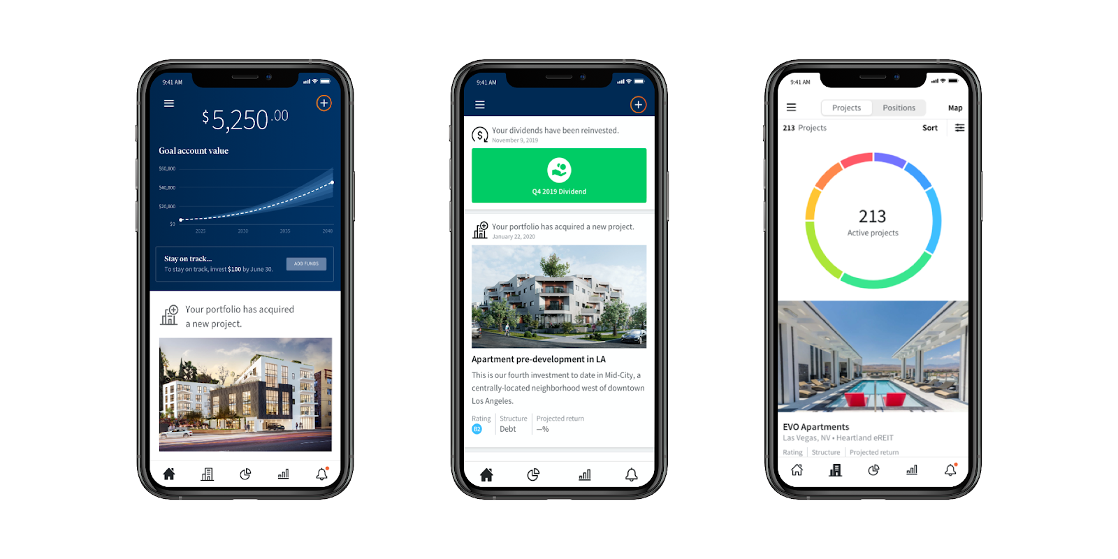 Investing in real estate using an app