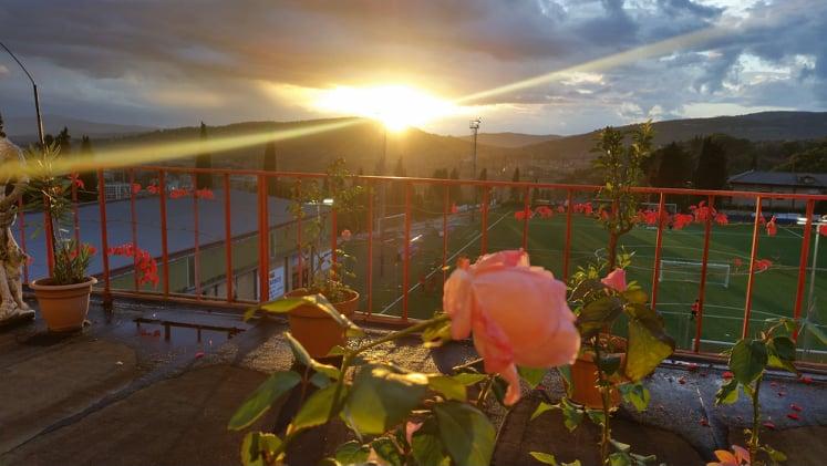 Il tramonto dal Collegio universitario Don Bosco a Perugia