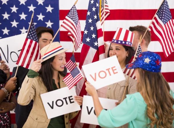 American people encourage voting