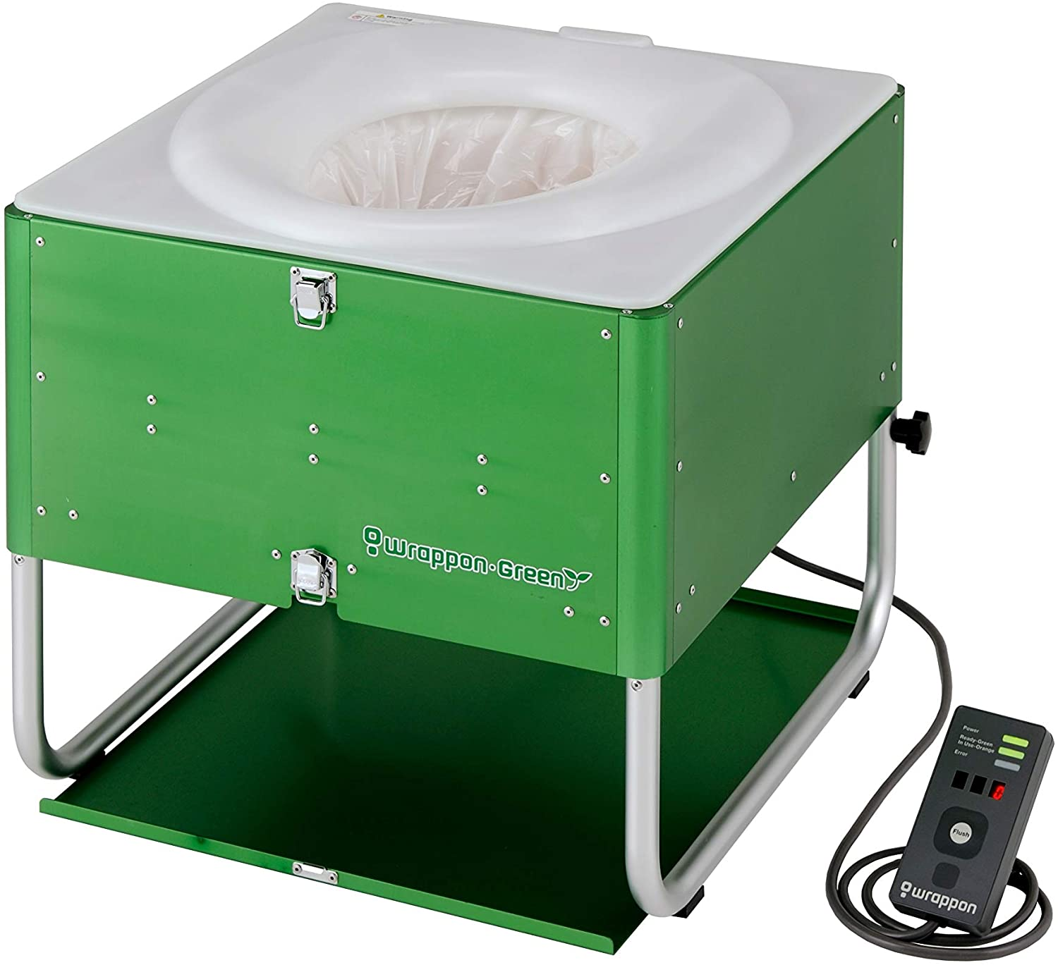 wrappon green portable toilet no fluids for