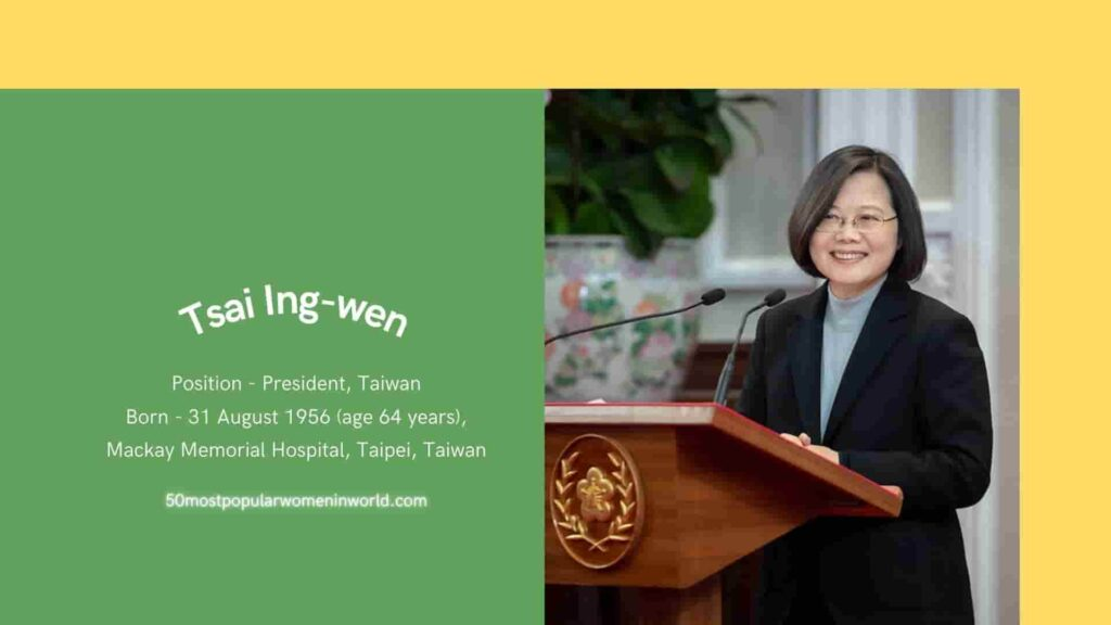 Tsai Ing-wen included in most famous women in the world