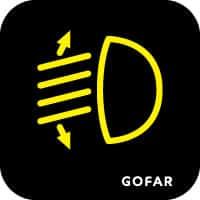 đèn pha ô tô điều khiển ánh sáng biểu tượng