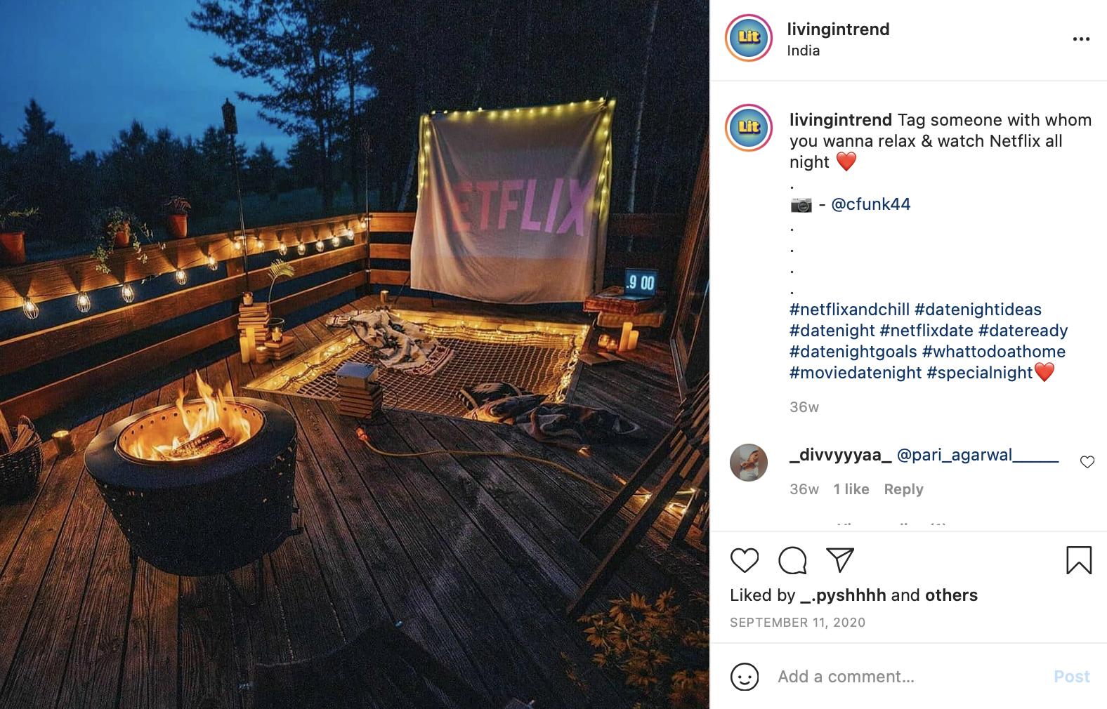dinner & movie newly-wed date night idea