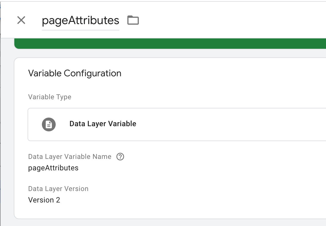 data layer variable setup in google tag manager.