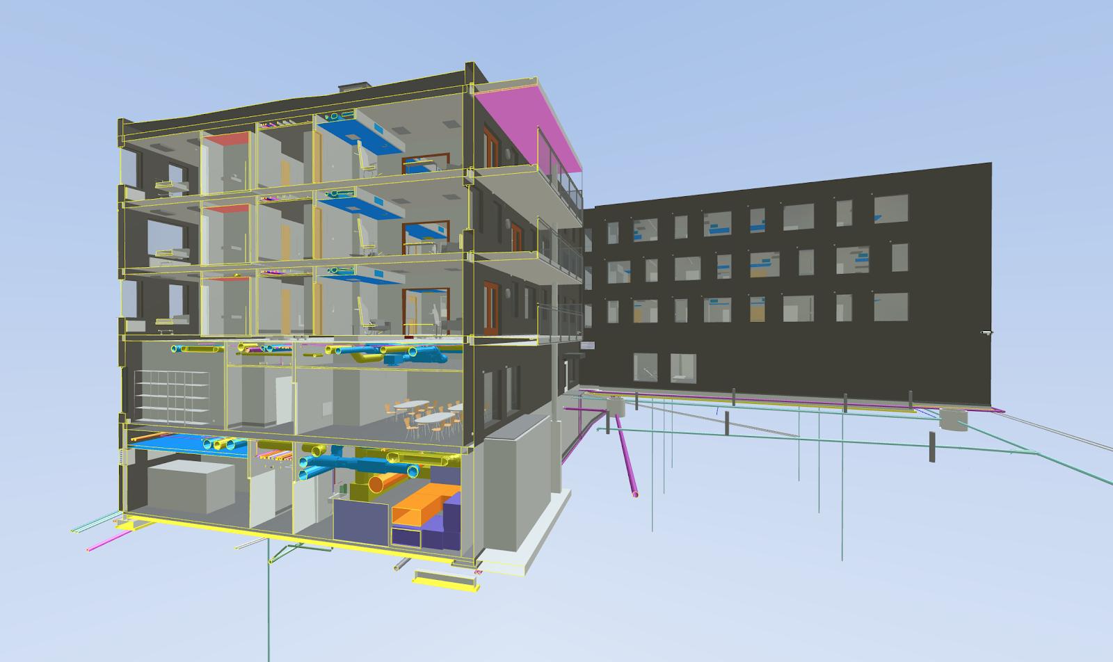 Illustrasjon av en 3D BIM-modell