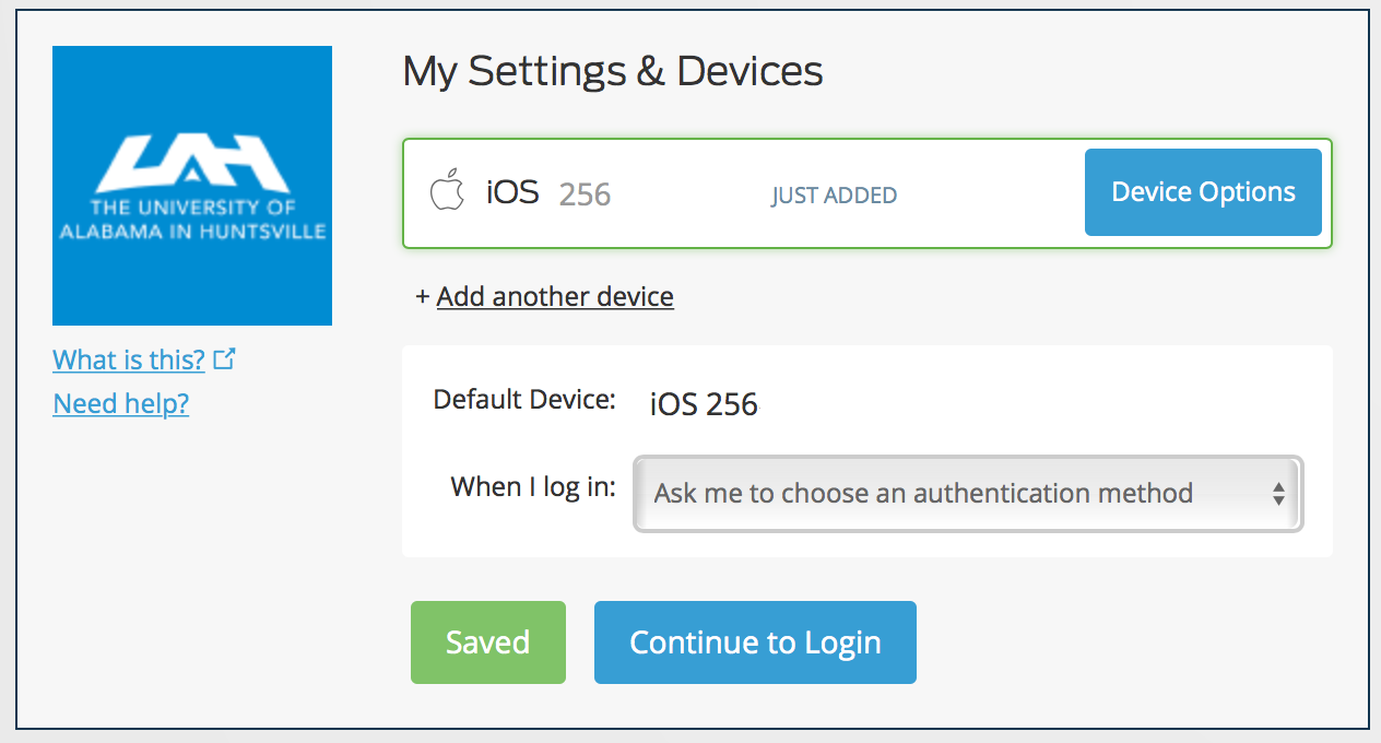 Visual Representation of My Settings & Devices Screen