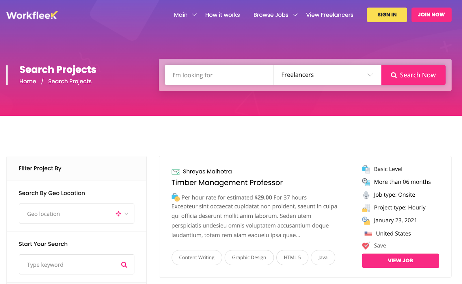WorkReap Directory WordPress theme