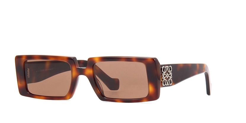 LOEWE Sunglasses | LW40028I 52E | Brown Slim Rectangle Sunglasses |  PRETAVOIR