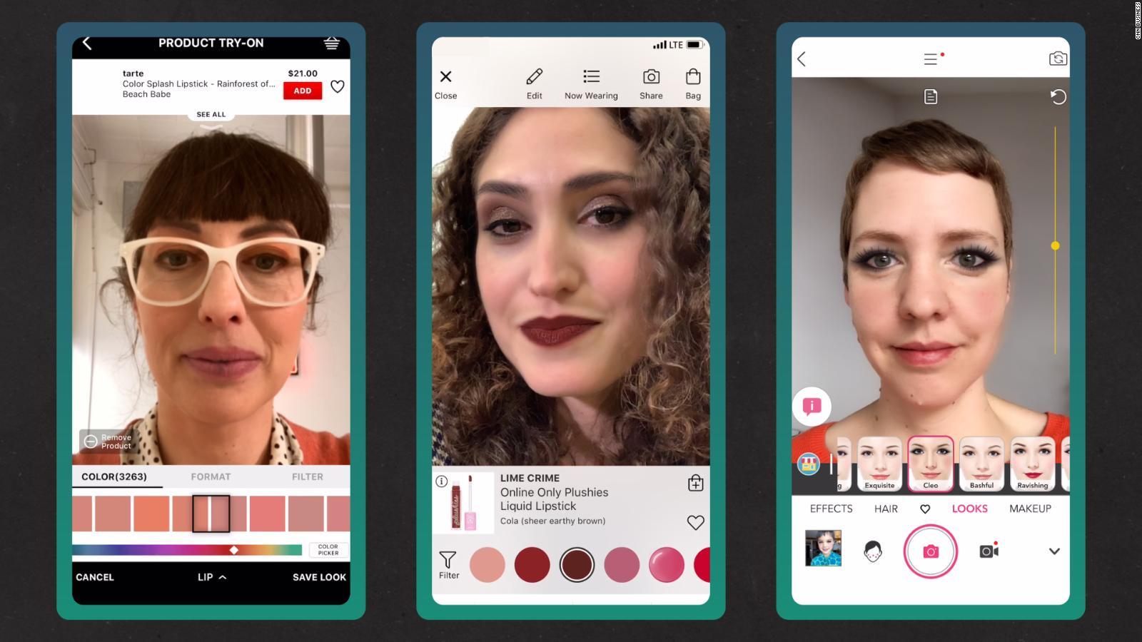 How cosmetic brands use virtual makeovers to sell real makeup - CNN Video