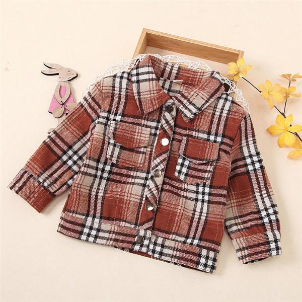 Toddler Unisex Long Sleeve Button Jacket