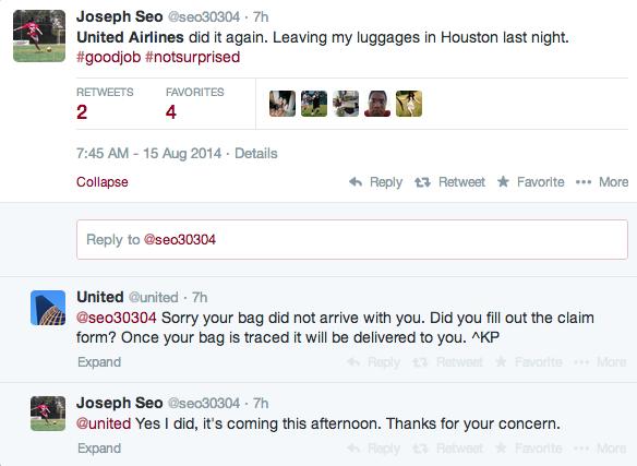 United Airlines Social Media Twitter