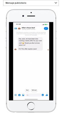 Ubicación de Facebook messenger