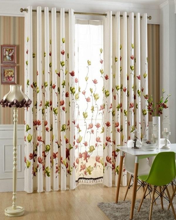 Lựa chọn rèm vải hoa chống nắng nóng