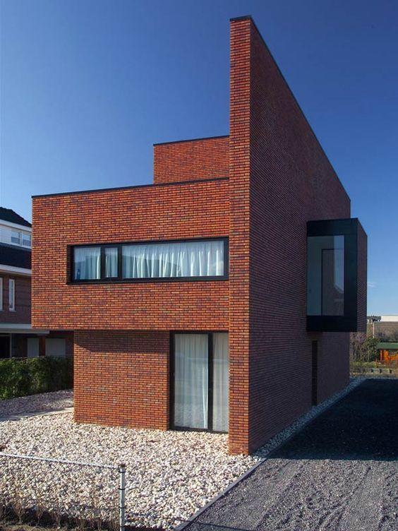 Rumah bata merah gaya eropa minimalis