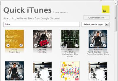 Quick iTunes Google Webstore