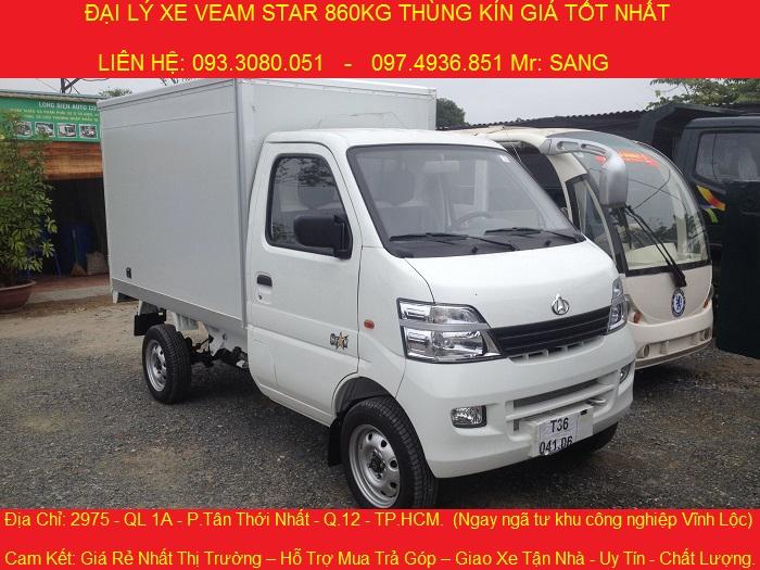 Xe tải veam star 860kg, xe tải nhẹ giá rẻ  159 triệu, có máy lạnh.