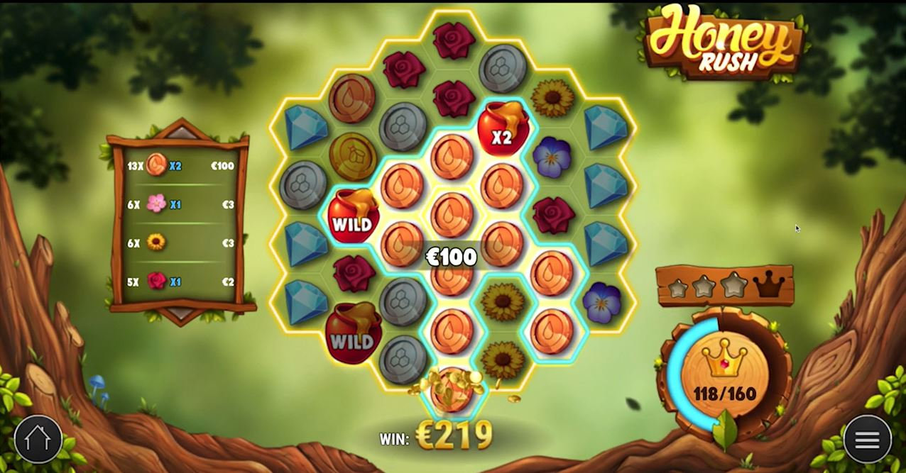 Play Honey Rush Video Slot by Play'n Go for Real Money at Scatters Casino