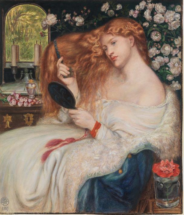 lady brushing hair