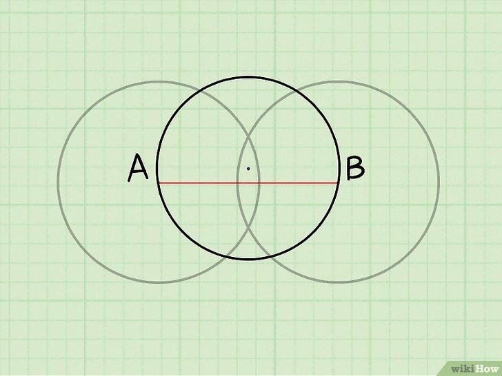 иллюстрация двух окружностей с разным центром