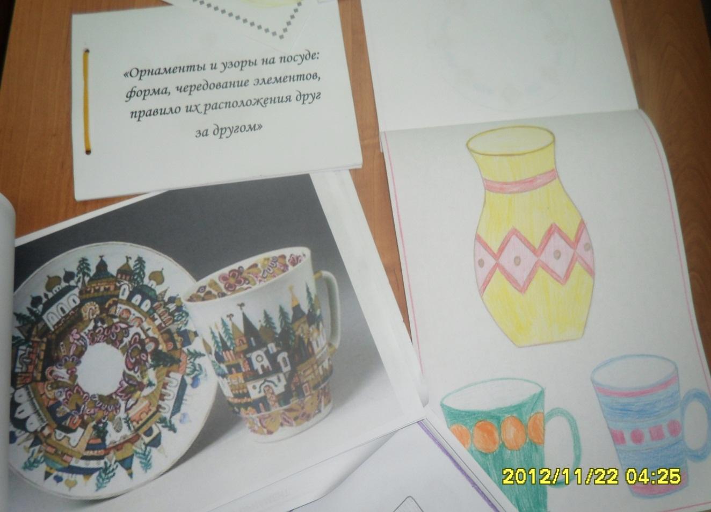 презентация узоры и орнаменты на посуде проект 2 класс по математике фото