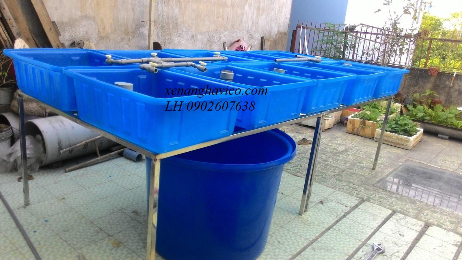 bán thùng nhựa nuôi cá giá rẻ