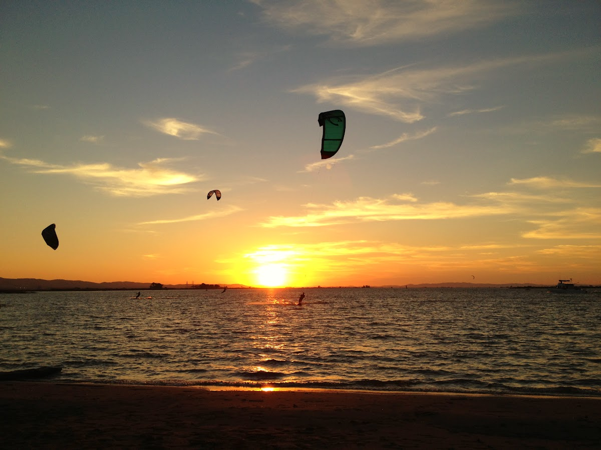 Kiteboarding Sunset Session