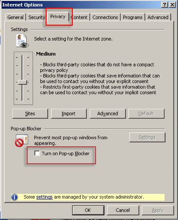 Windows privacy settings screen shot