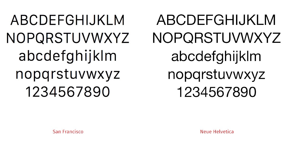 Two typefaces used by Apple.