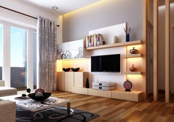 Cần bố trí đèn sao cho làm nổi bật sơn tường và mọi đồ trang trí trong phòng