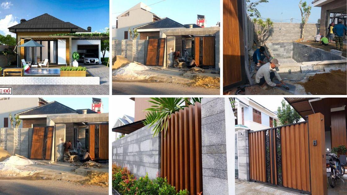 nhà phố 5 tầng đẹp 2 - Thiết kế và thi công Full nội thất biệt thự 1 tầng 3 phòng ngủ có hồ bơi ở Đà Nẵng