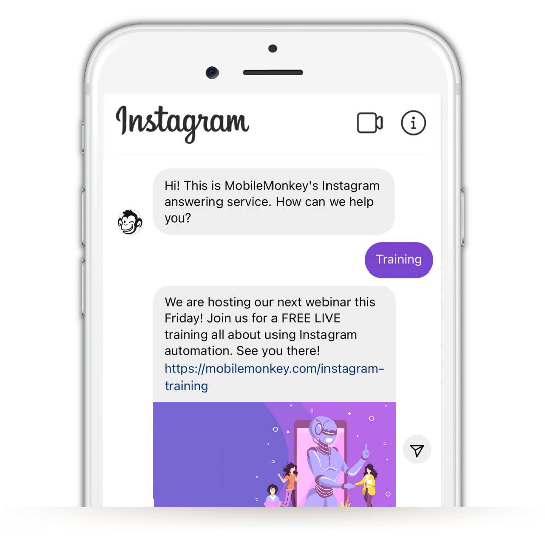 Link to your website in Instagram DMs