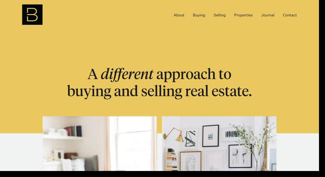 Berdan Real Estate website example