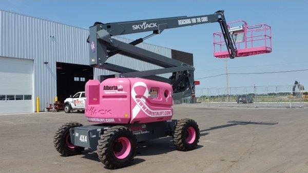 Pink Boom Lift