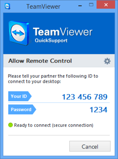 Teamviewer User ID and password