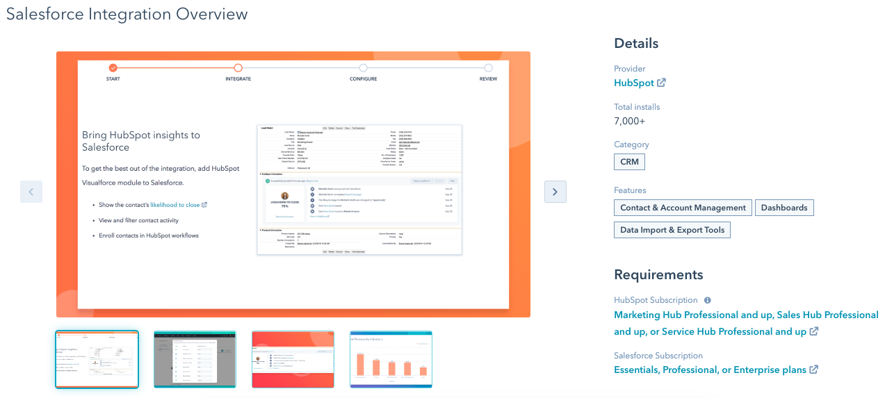 salesforce hubspot integration
