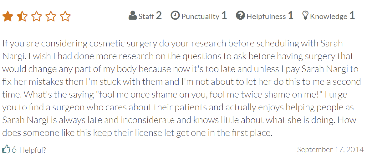 Whitefish Plastic Surgery and Medspa review