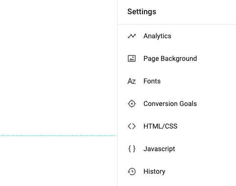 Landing Page settings in Instapage