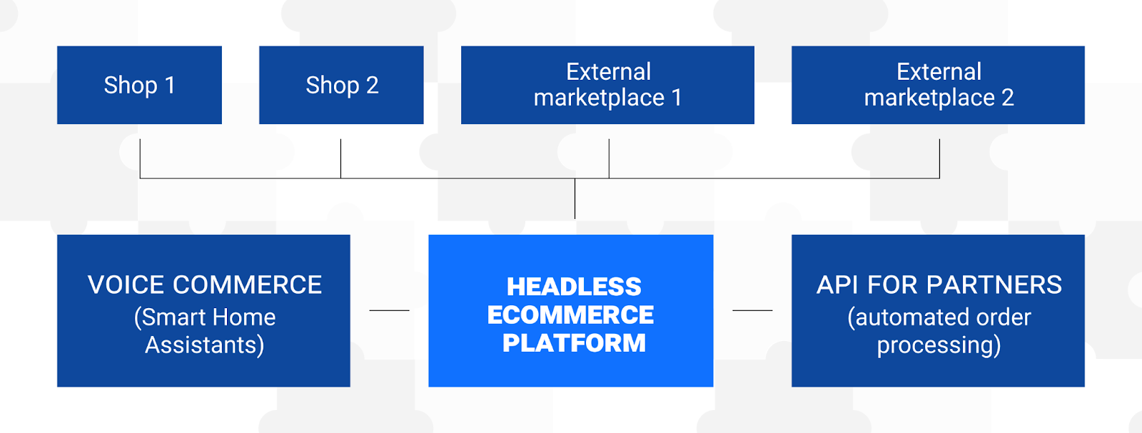 Omnichannel headless ecommerce platform with multiple touchpoints